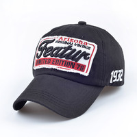 2016 Summer New Unisex Casual Embroidery Letter Adjustable Baseball Caps For Women Men Cotton Snapback Vintage