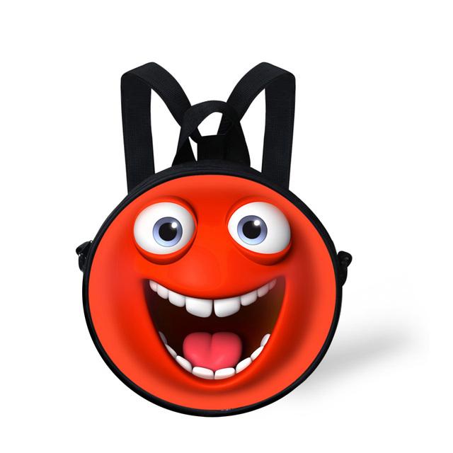 10 inch divertido Bebé Emoji Cara Sonriente Bolsas Escuela Kindergarten Lindo Niños Mochilas Niños Niñas Mochila Mochila Feminina