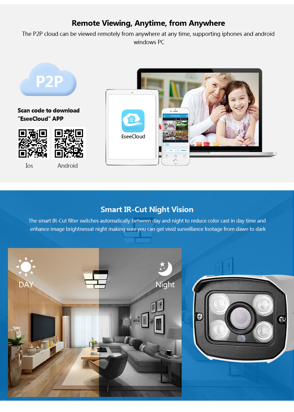 LOOSAFE Surveillance Security Camera CCTV NVR Security Kit 8CH 2MP HD  wireless Home CCTV Outdoor waterproof IP Camera System