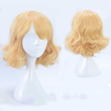 Vocaloid 2 Kagamine Rin Short Yellow Wig Cosplay Halloween Role Play