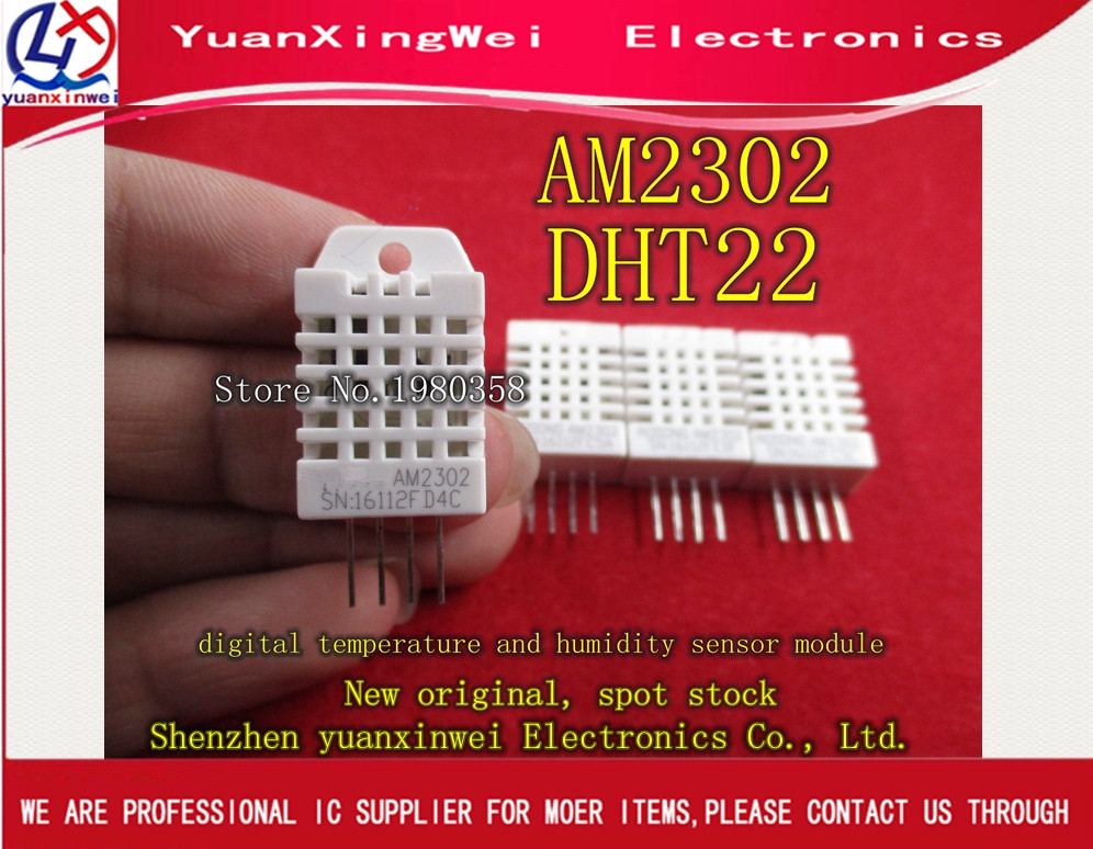 1pcs /lot DHT22 / AM2302 DIP-4 Digital Temperature And Humidity Sensor 100%New Original 2pcs at89s52 24pu dip 40 at89s52 dip at89s52 24 programmable flash new and original ic free shipping