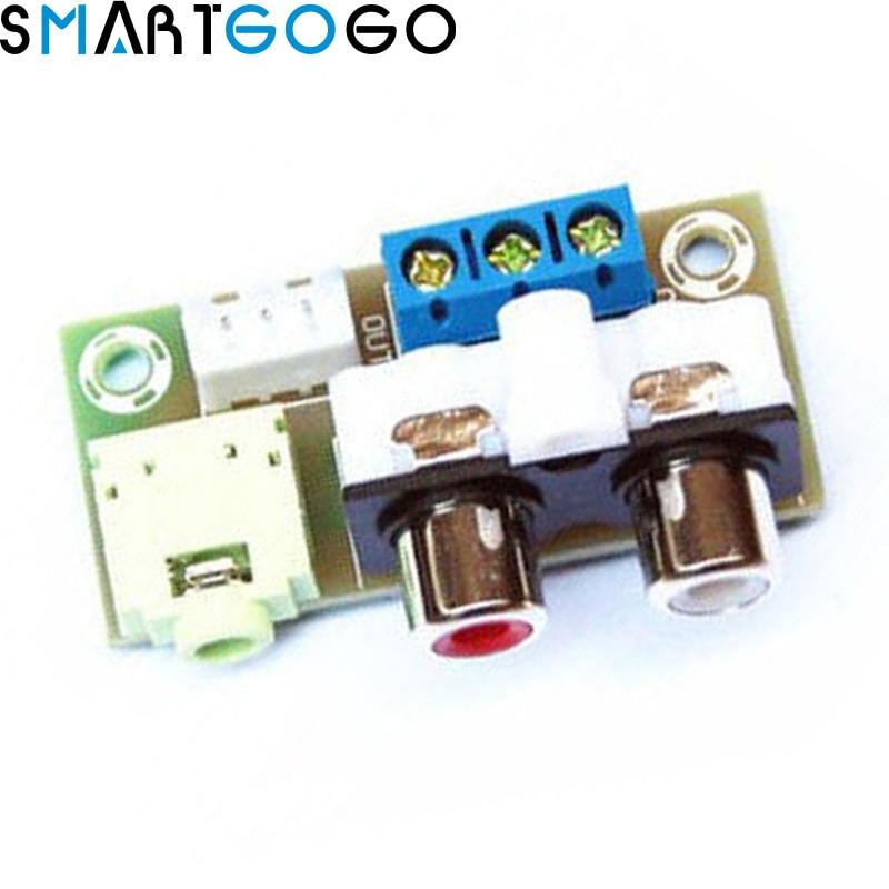 DIY Kit Audio Switch Board RCA 3.5mm Audio Input Block For Amplifier Kit Electronic DIY Kit