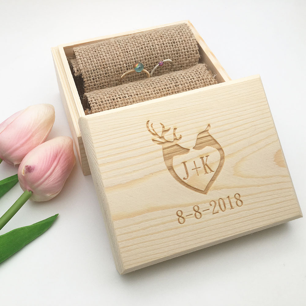 Boite A Cadeau Us 13 59 20 Off Ring Box Custom Name Handmade Letter Jewellery Box Boite A Bijoux Boite Cadeau Sieraden Doos Wedding Ring Box Jewelry Boxes In