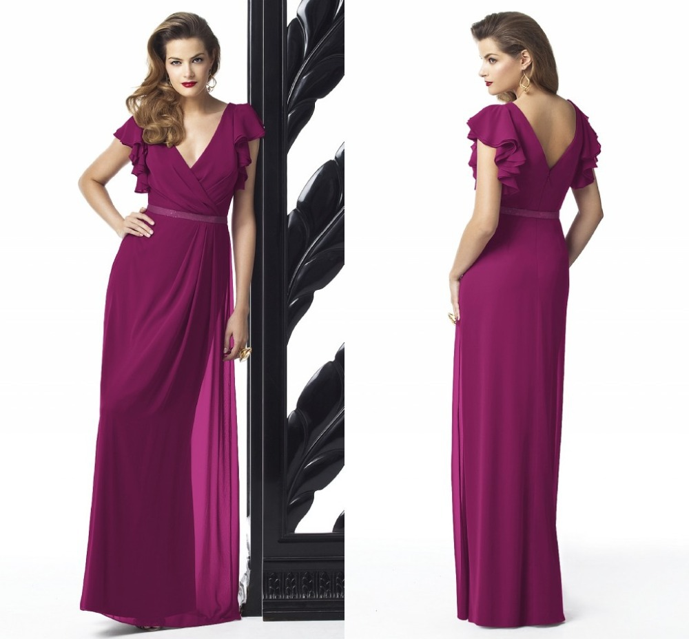 Popular fuchsia plus size bridesmaid dresses buy cheap fuchsia elegant a line maid of honor gowns for weddings 2015 hot sale long chiffon plus ombrellifo Images