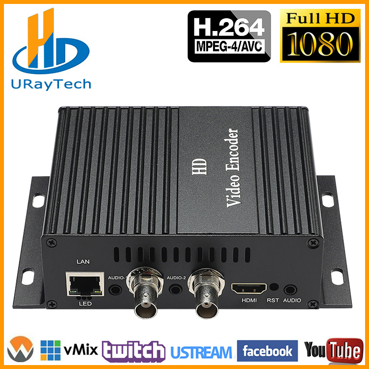 MPEG4 HDMI + CVBS + Stereo Audio To IP Encoder IPTV HD SD Video Audio Encoder H.264 Live Streaming Encoder Transmitter RTMP RTSP
