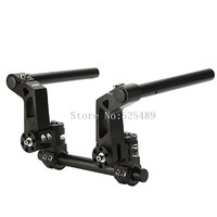 Black CNC Aluminum Universal 125cc Motorcycle Scooter Adjustable Steering Handle Bar 7 8 22mm Removable Handlebar