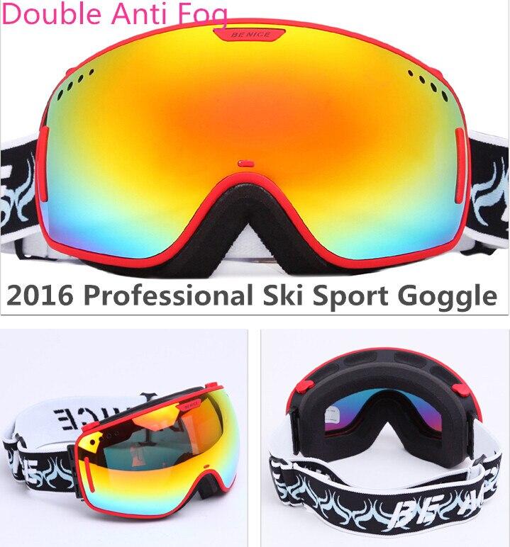 Benice Marca UV400 Gafas de Esquí Lente Doble Antiniebla Esféricos Grandes Gafas
