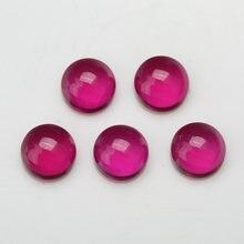 10 шт 3 мм ~ 5 # цвет круглый кабошон синтетические корундовые