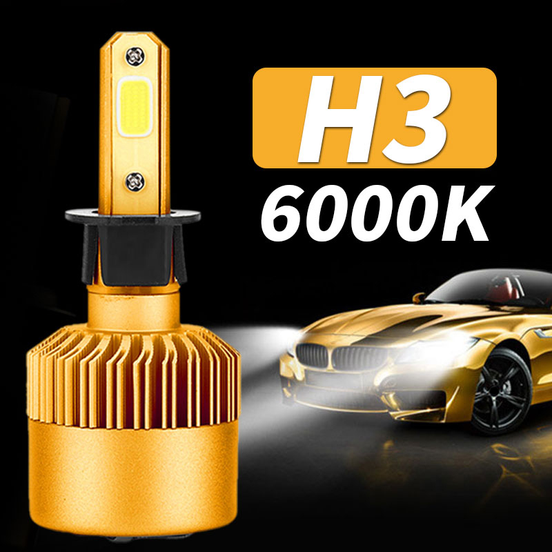 Vehemo H3 LED Fog Light LED Headlight Automobile Front Lamp Super Bright Universal Car Accessories