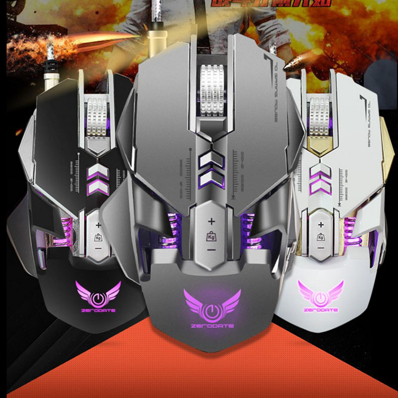 Efficient New Gaming Mouse Adjustable Colorful Backlight 4000dpi Optical Wired Gaming Game Mice Mouse For Laptop Pc For Lol Dota Mice Computer Peripherals