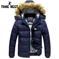 TANGNEST 2016 Winter Man's Jacket Warm Casual Comfortable Popular Men Jacket High Qualiy Blue Color Soft Man Thick Coat MWY079