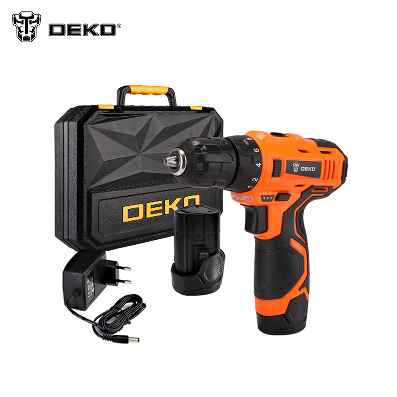 Electric Drill Cordless  DEKO ORG12DU3-S3 Power Tools For Home DIY new electric drill cordless screwdriver rechargeable battery electric screwdriver parafusadeira furadeira tenwa power tools