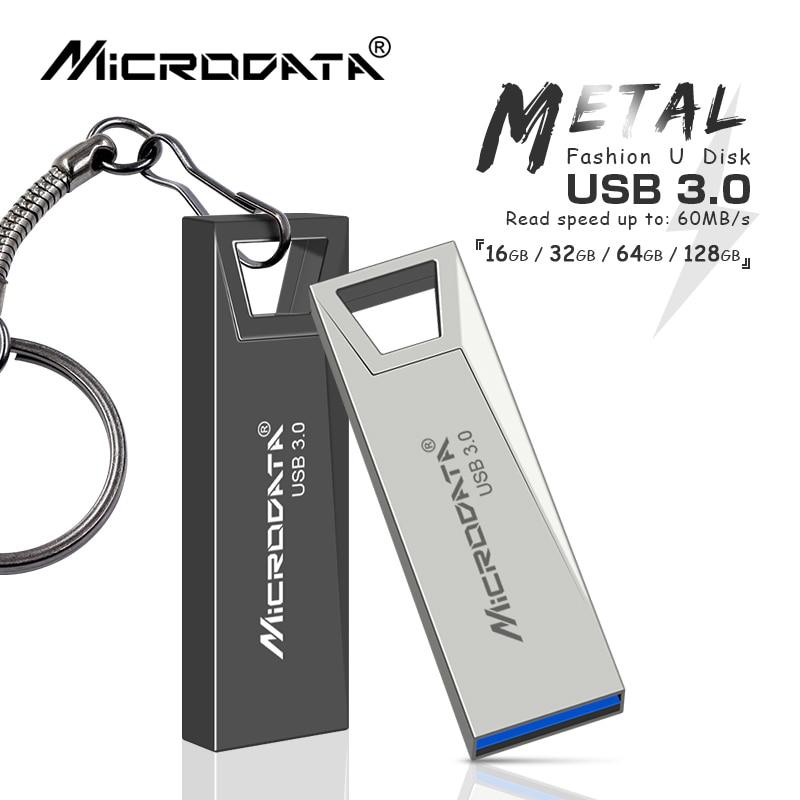 2019 New USB 3.0 pen drive 128GB 64GB usb flash drive pendrive 32GB 16GB cle usb memory stick waterproof flash drive keychain