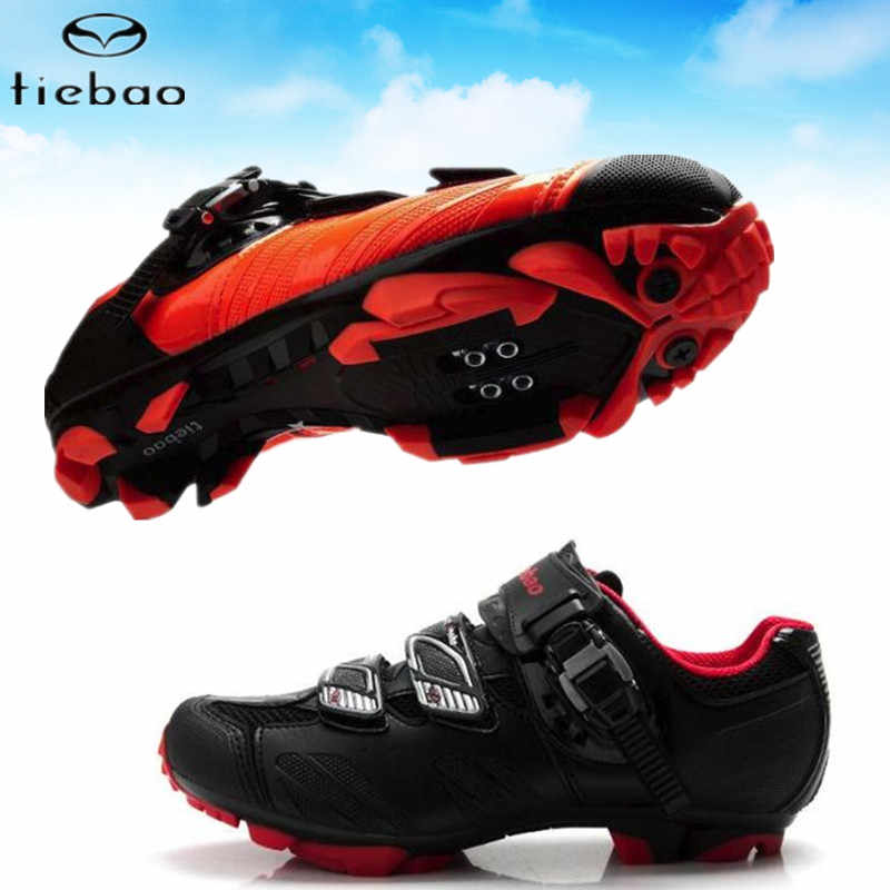 Tiebao Cycling Shoes sapatilha ciclismo MTB Mountain Bike chaussure vtt Outdoor Professional Women sneakers Men Bicycle Shoes