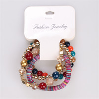 Summer Style Bracelets For Women Rushed Sterling Jewelry Handmade Beads 2017 New Gift Colorful Fashion Multilayer Bracelets