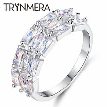 TRYNMERA Rings For Women Cubic Zirconia Copper Elegant Bow Wedding Bijouterie Jewelry(China)