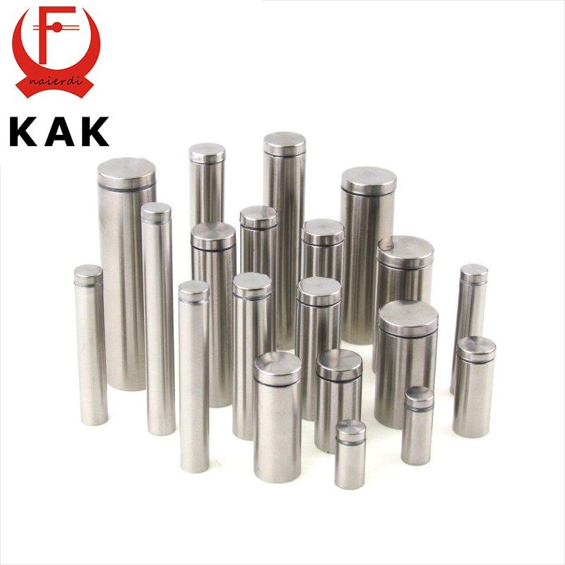 10PCS KAK Glass Fasteners 25mm Stainless Steel Acrylic Advertisement Standoffs Pin Nails Billboard Fixing Screws Hardware
