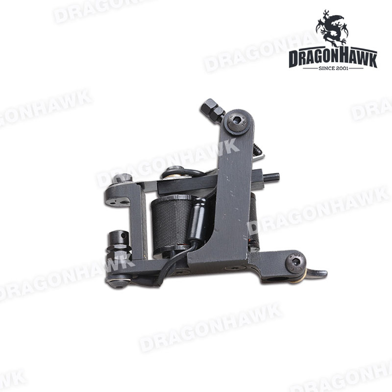 Фотография Professional Handmade Tattoo Machine 10 Wrap Coils Iron Cast Frame Custom Tattoo Gun For Shader Liner