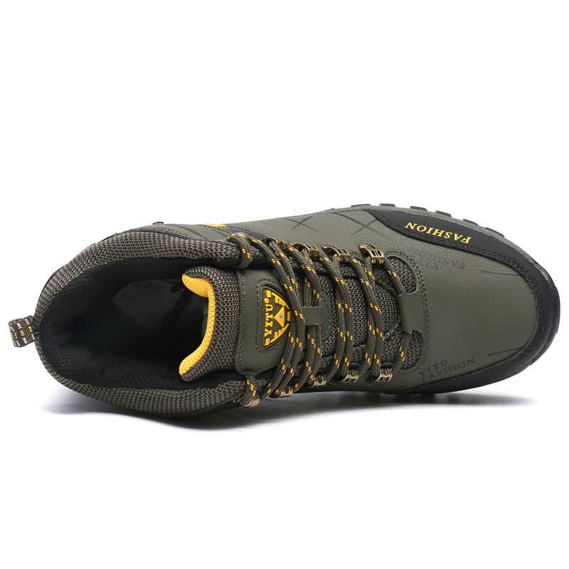 Winter Mannen Wandelschoenen Herfst Mode Warme Wandelschoenen Bergbeklimmen Schoenen Outdoor Sport Mannen Trekking Sneakers Waterdicht