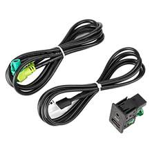 Car Radio GPS Navigation Cable USB AUX in Plug Socket Harness Adapter Fit For E87lCI/E88/E90 Radio AUX Cable(China)