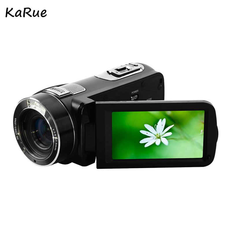 Karue HDV-Z816x Digital Zoom Max. 24MP 1080P Full HD Digital Video Camera Camcorder with Digital Rotation LCD Touch Screen