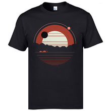 Solitude Geometric Sunset Landscape Tshirts Mountain Forest Stay Wild Mens Lovers Day T Shirt Round Neck Cotton Drop Shipping