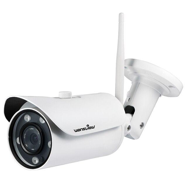 Wansview Full HD 1080 P 30fps Telecamera Ip Esterna WiFi Allarme Senza Fili  Di Sicurezza Di