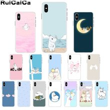 RuiCaiCa Hippo Cute animal cartoon TPU Soft Silicone Phone Case for iPhone X XS MAX  6 6s 7 7plus 8 8Plus 5 5S SE XR ruicaica marvel avengers widow hulk iron man spider man film phone case for iphone x xs max 6 6s 7 7plus 8 8plus 5 5s se xr 10