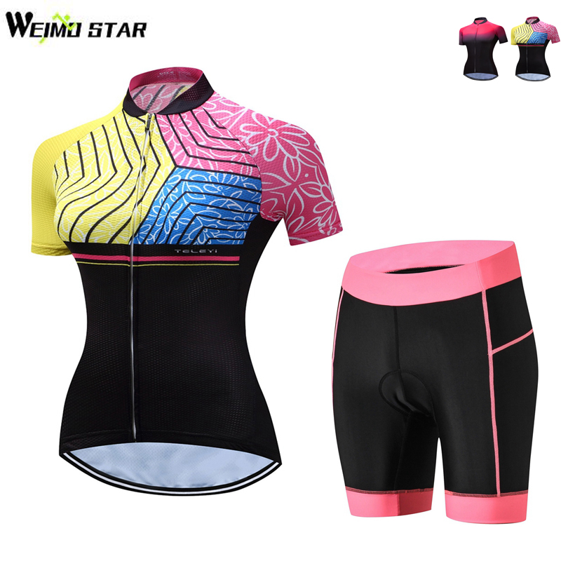WEIMOSTAR Cycling Set Kit Breathable Quick Dry MTB Bike Bicycle Jerseys Cycling Clothing Women Bicicleta Maillot Ropa Ciclismo cycling clothing rushed mtb mavic 2017 bike jerseys men for graffiti cycling polyester breathable bicycle new multicolor s 6xl