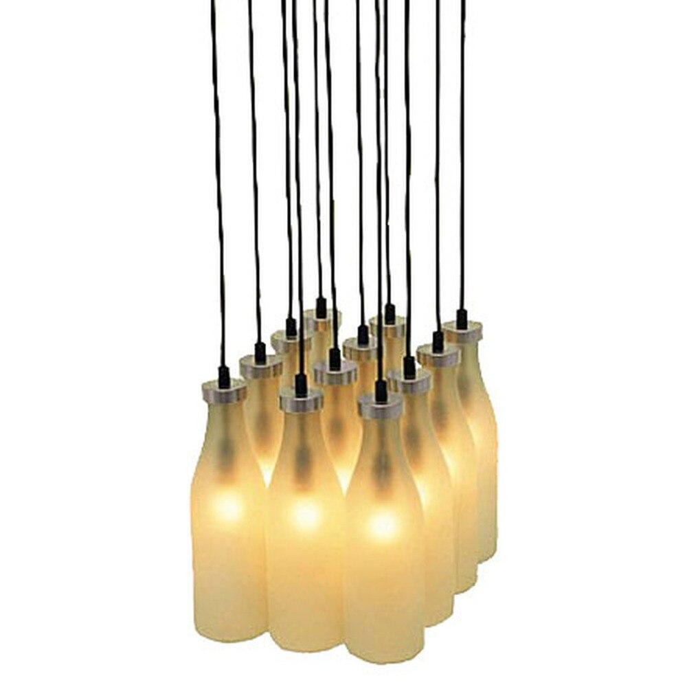 Kids Bedroom Lamp Milk Bottle Single Pendant Lights White Glass Pendant Lamp For