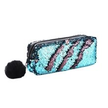Sequin Cosmetic Bag Color Reversible Sequin Pencil Bags Girls Cosmetic Case Gift