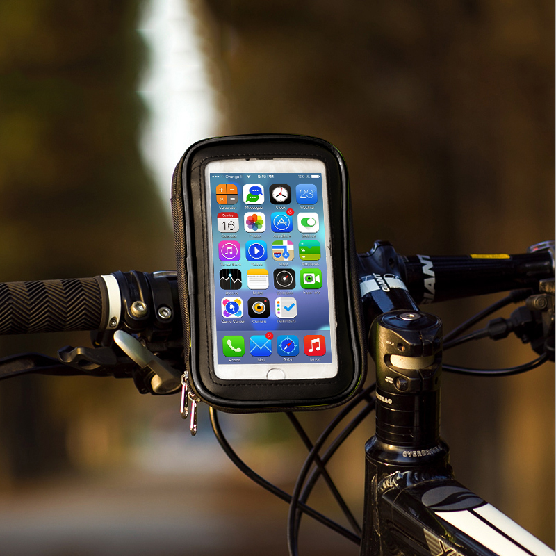Motorcycle Bicycle Mobile Cell Phone Holder Stand Support For iPhone 7 5 SE 6S 6 Plus GPS Bike Holder Waterproof Case Bag