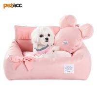 Petacc автомобиль животное кровать в автомобиле собака Cuddler удобные ПЭТ гостиная с двойного назначения подушки и подушки стильный кисточкой Д