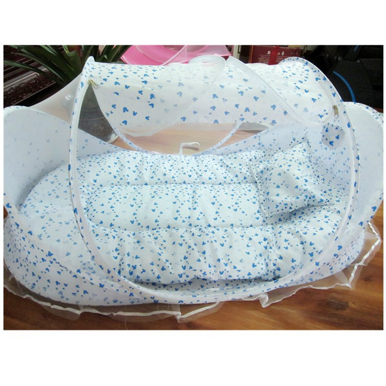 Portable Ger Type Print Baby Bedding Crib Netting Folding Baby Mosquito Nets Bed For 0-2Y Kids 110*65*60cm