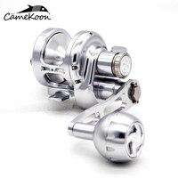 CAMEKOON Conventional Lever Drag Saltwater Fishing Reel Full Aluminum CNC Machined Fishing Jigging Reel Trolling Reel