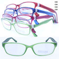 wholesale colorful 78224 injection acetate dual colors unique shape lightweight simple PC optical eyeglass frames for girl