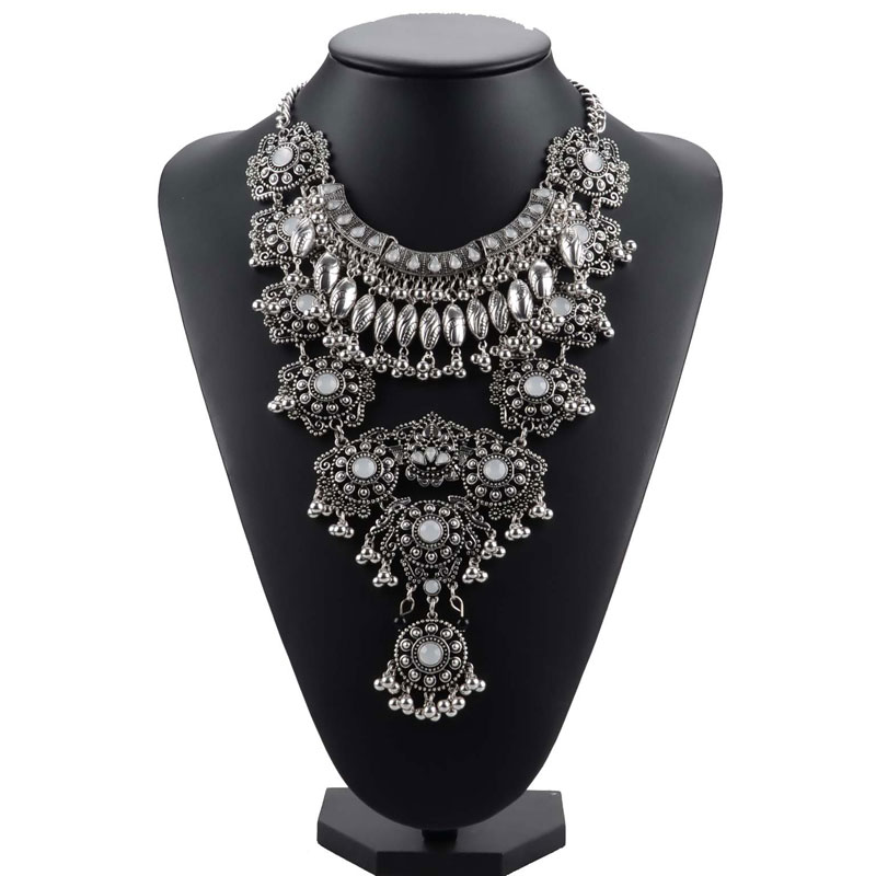 2019 New Gypsy Vintage Maxi Jewelry Trendy Collar Ethnic Bohemian Statement Necklace Women High Quality Crystal Choker Necklaces2019 New Gypsy Vintage Maxi Jewelry Trendy Collar Ethnic Bohemian Statement Necklace Women High Quality Crystal Choker Necklaces