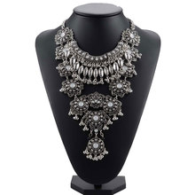 2016 New Gypsy Vintage Maxi Jewelry Trendy Collar Ethnic Bohemian Statement Necklace Women High Quality Crystal Choker Necklaces недорого