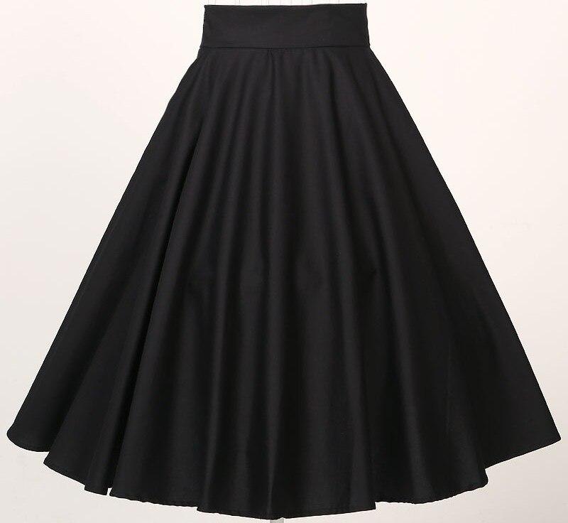 Юбки Женская одежда для вечеринок Клубная одежда полный круг длинные юбки черный красный Большие размеры 4xl xxxl Быстрая 60-х - Цвет: SK407-1