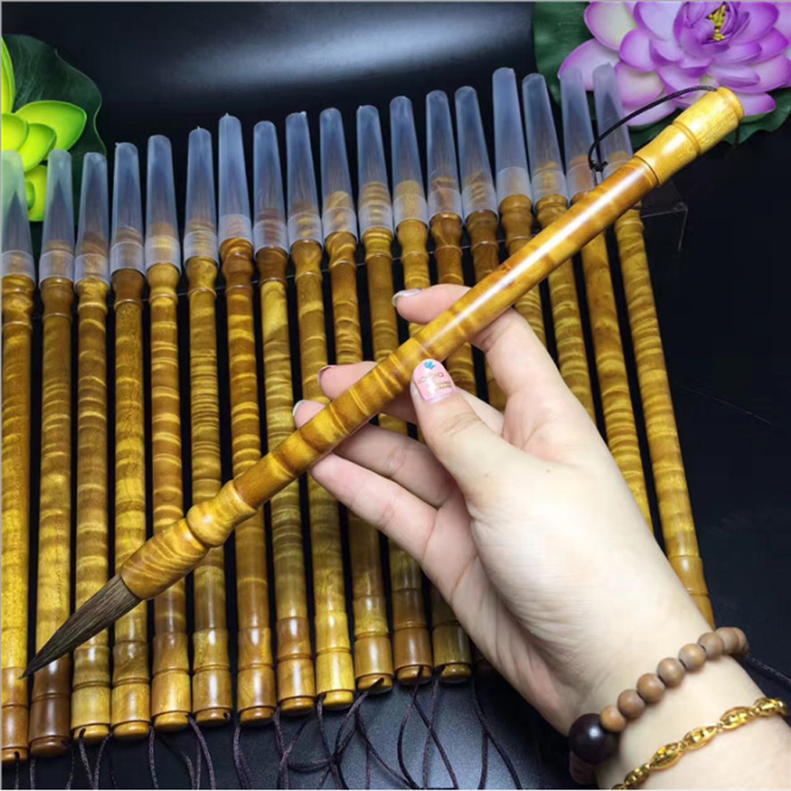 1 piece Top Grade Silkwood Weasel Hair Chinese Calligraphy Brush Pen for Painting Stationary Artist Painting supply gift box bag 1 piece chinese calligraphy painting pine soot ink stick painting supply stationary
