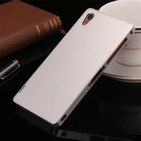 Luphie Fundas For Sony Xperia Z3 Hard Aluminum Alloy Frame Metal Back Cover Case For Sony