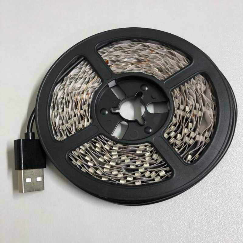 LED Strip 5V USB Kabel Lampu LED Strip Lampu SMD3528 1 M 2 M 3 M 4 M 5 M Natal Fleksibel LED Garis Lampu TV Pencahayaan Latar Belakang