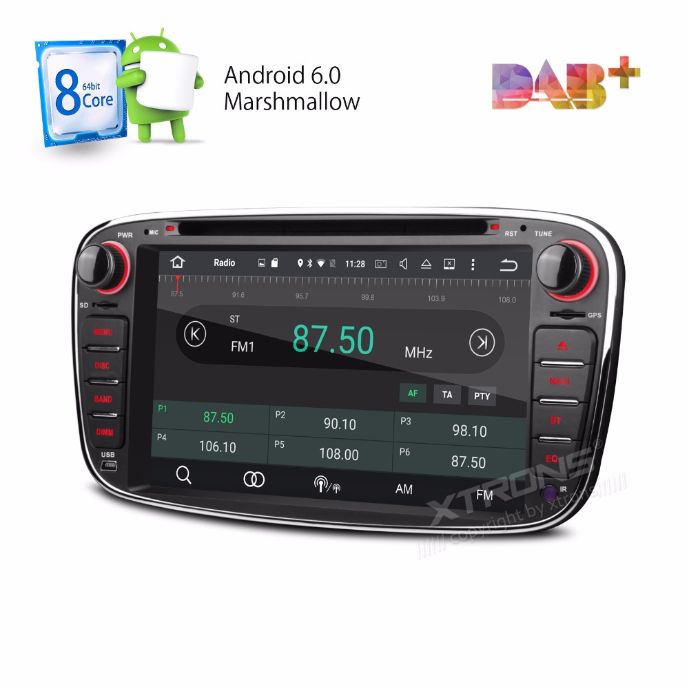 Aliexpress com buy xtrons 2 din 7 android 6 0 octa 8 core car dvd player dab wifi 4g gps navigation for ford focus ii mondeo s max c max galaxy ii from