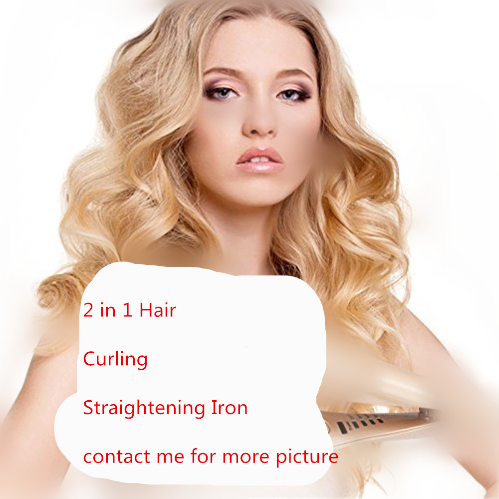 2 in 1 Hair Curlers Straightener Perm Styling Rolloer Styler Curler Tools Wand Hair Curling & Straightening Iron Hair Styler2 in 1 Hair Curlers Straightener Perm Styling Rolloer Styler Curler Tools Wand Hair Curling & Straightening Iron Hair Styler