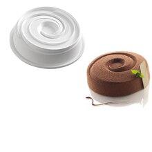 Weiß Vortex Spirale Rund Geformte Silikon Backen Einfrieren Mold Für Whirlpool Geformt Muffin, Dessert, Pudding und Jello Antihaft