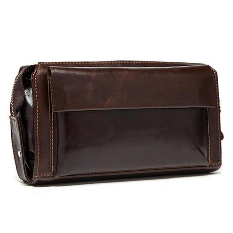 Men Wallet Genuine Cowhide Leather Multi Card Clutch Wallets Card Holder Long Men's Wallets Coin Zipper Pocket Man Purse HandBag