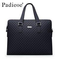 Famous Brand Padieoeo Business Briefcase Handbag Men Shoulder Bags Genuine Leather Cowhide Messenger Bag Men S