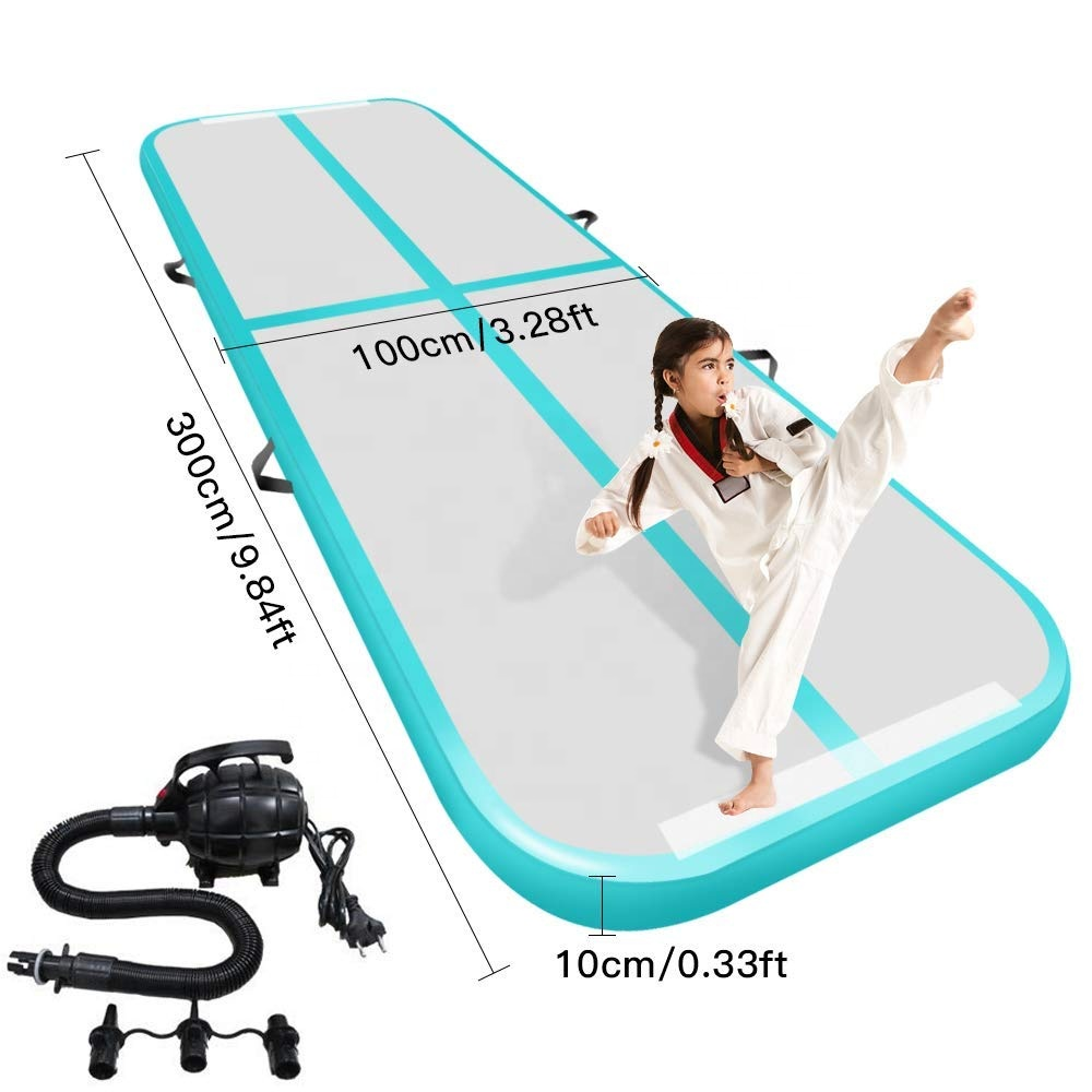 Drop Stitch Material Inflatable Air Track With Different Colors 3*1*0.1m Gym Mat With Cheap Price Top Quality Yoga Mat For Human