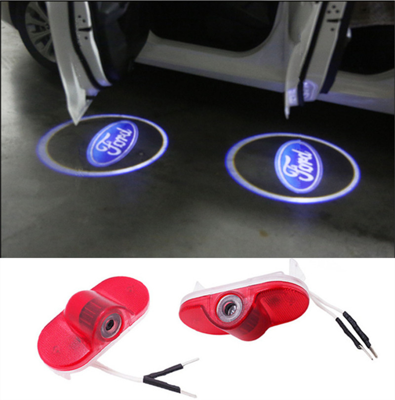 2X Car LED Courtesy Door Logo Projector Light For Ford Modeo S Max Car Door Ghost