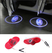 2X Car LED Courtesy Door Logo Projector Light For Ford Modeo S-Max Car Door Ghost Shadow Projector No Drill 3D Laser Logo Light
